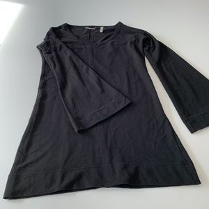 Corson black top with bell sleeves, size S